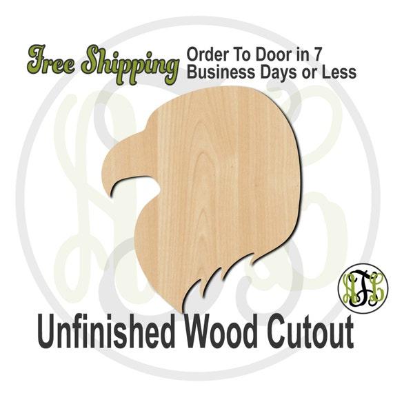 Eagle Head Mascot- 60511- School Spirit Cutout, unfinished, wood cutout, wood craft, laser cut shape, wood cut out, Door Hanger, wooden