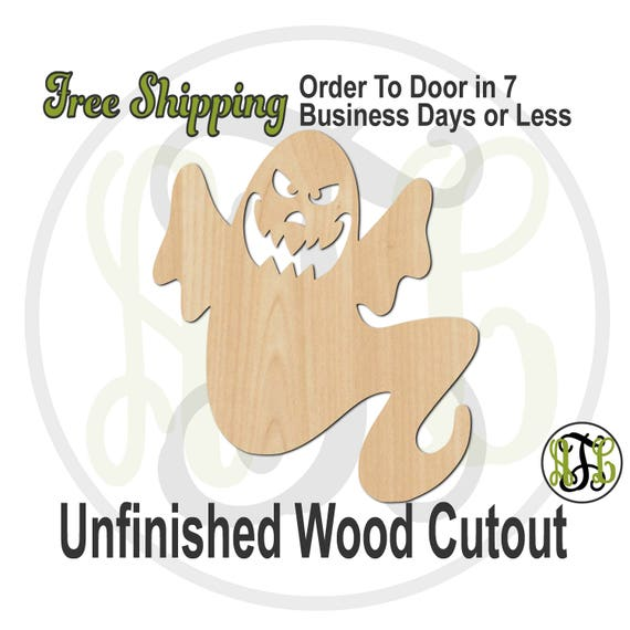 Ghost 11 - 160043- Halloween Cutout, unfinished, wood cutout, wood craft, laser cut out, wood cut out, Door Hanger, spirit, phantom, wooden