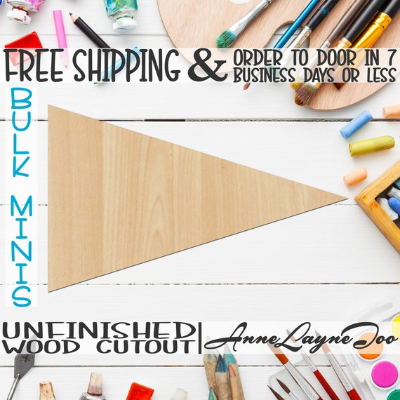 """Plaque Pennant- 2"""" to 6"""" Minis, Small Wood Cutout, unfinished, wood cutout, wood craft, laser cut, wood cut out, ornament -40022"""