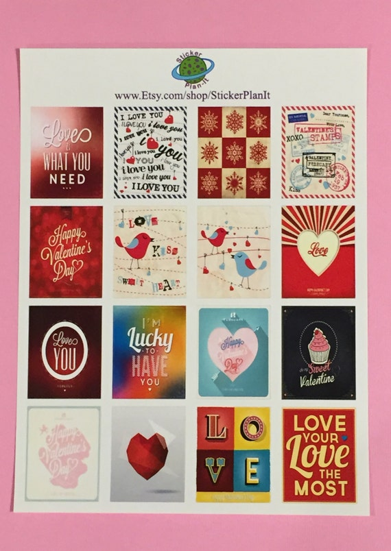 Valentine S Day Quotes Planner Stickers For Eclp Erin Etsy