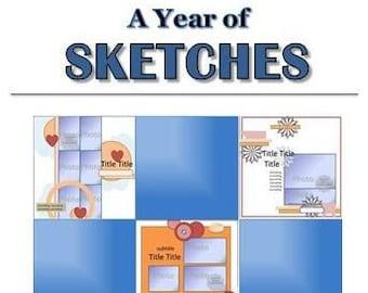 2013 Sketchbook - 52 Scrapbooking Sketches from 2013