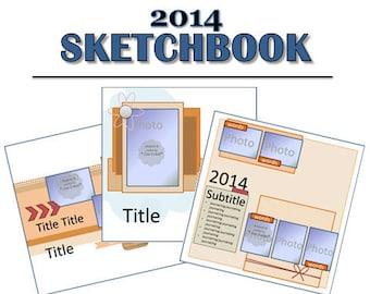2014 Sketchbook - 52 Scrapbooking Sketches from 2014