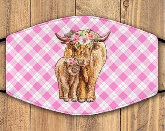 garland decor tartan bunting highland cow gift idea Highland cow bunting