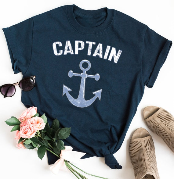 Captain Awesome Cotton T-Shirt Funny Dad Gift Present Sailor Boast Yacht