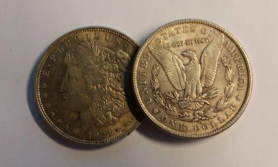 U S 1921 Morgan Dollar 90 Prozent Silber 1 Dollar Münze Vg Etsy