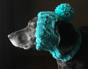 e287f872a28 Handmade Knit Clothes Pompom Hat with Ties for Dogs    Pets Size XXS ...