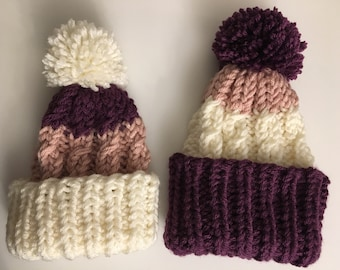 0b45865ed61 Multicolored Cable-Knit Baby Hat
