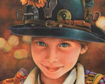 Keys to Happiness Limited Edition Giclee' print on canvas