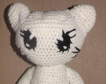 Tutoriel pour crocheter cette poupée Chat (sans vêtements)