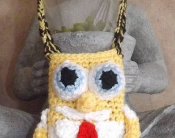 Tutorial for crocheting your Sponge Bob case bag