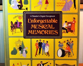 Vintage Unforgettable Musical Memories Songbook, 1984 Readers Digest Hardcover Music Book, Spiral Bound Book of Sheet Music, Sheet Music