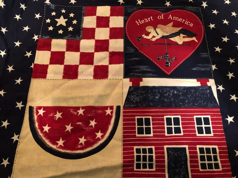 5280438e450 Vintage heart of America angel cottage 100% cotton quilt