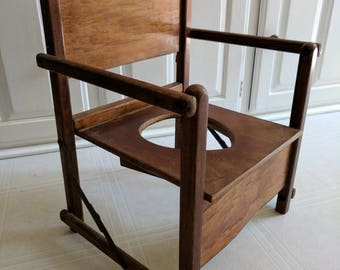 Vintage Folding Potty Chair