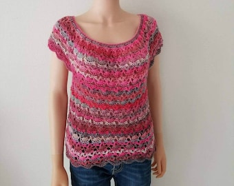 Vintage Rounded Yoke Top Crochet Pattern *PDF DOWNLOAD ONLY* Instant Download