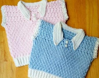 Brickwork Baby Vest (Newborn - 18 Months) *PDF FILE ONLY* The Lavender Chair - Instant Download