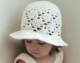 Vintage Sun Hat Crochet Pattern  *PDF FILE ONLY* The Lavender Chair - Instant Download