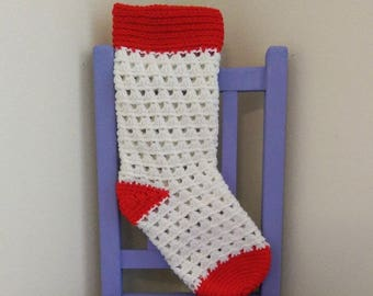 Lazy Daisy Stocking Crochet Pattern *PDF FILE ONLY* Instant Download
