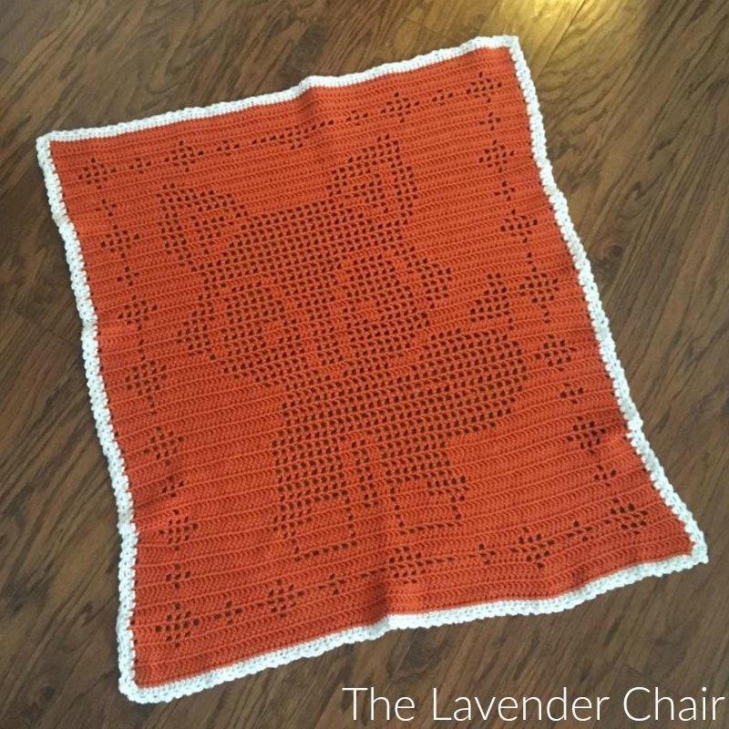 Filet Fox Blanket Crochet Pattern Pdf File Only Instant Etsy