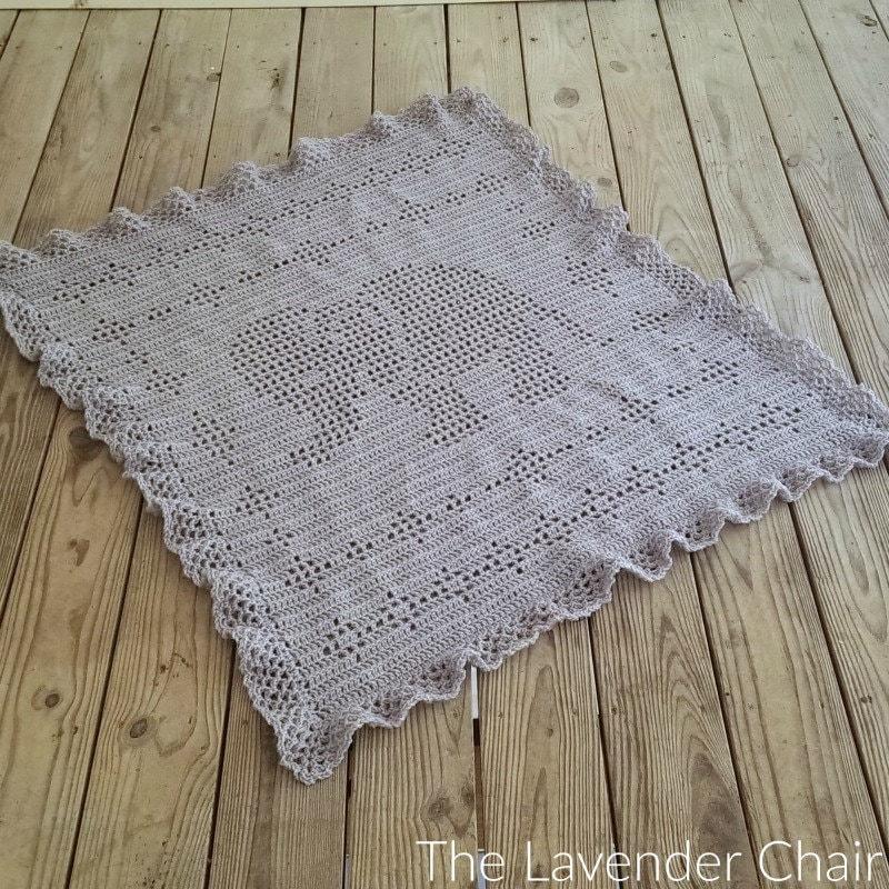 Filet Elephant Blanket Crochet Pattern Pdf File Only Instant Etsy