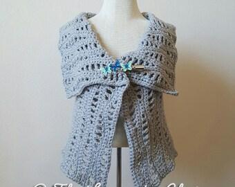 Lacy Waves Vest Crochet Pattern *PDF DOWNLOAD* Instant Download