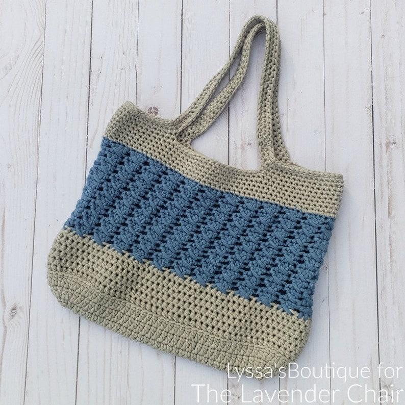 Matilda Tote Bag Crochet Pattern PDF FILE ONLY The Lavender image 0
