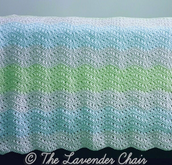 Crossed Double Ripple Afghan Crochet Pattern Pdf File Only Etsy