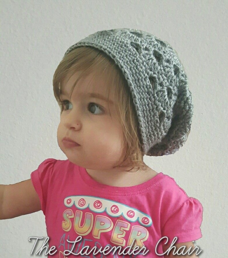 Stacked Shells Slouchy Beanie Toddler Child Crochet Pattern  d391bef731e