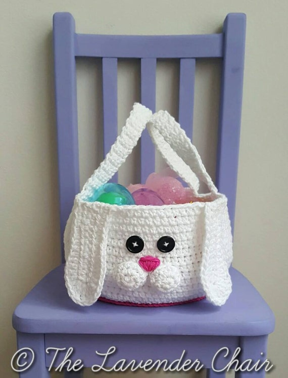 Chubby Bunny Easter Basket Crochet Pattern Pdf File Only Etsy