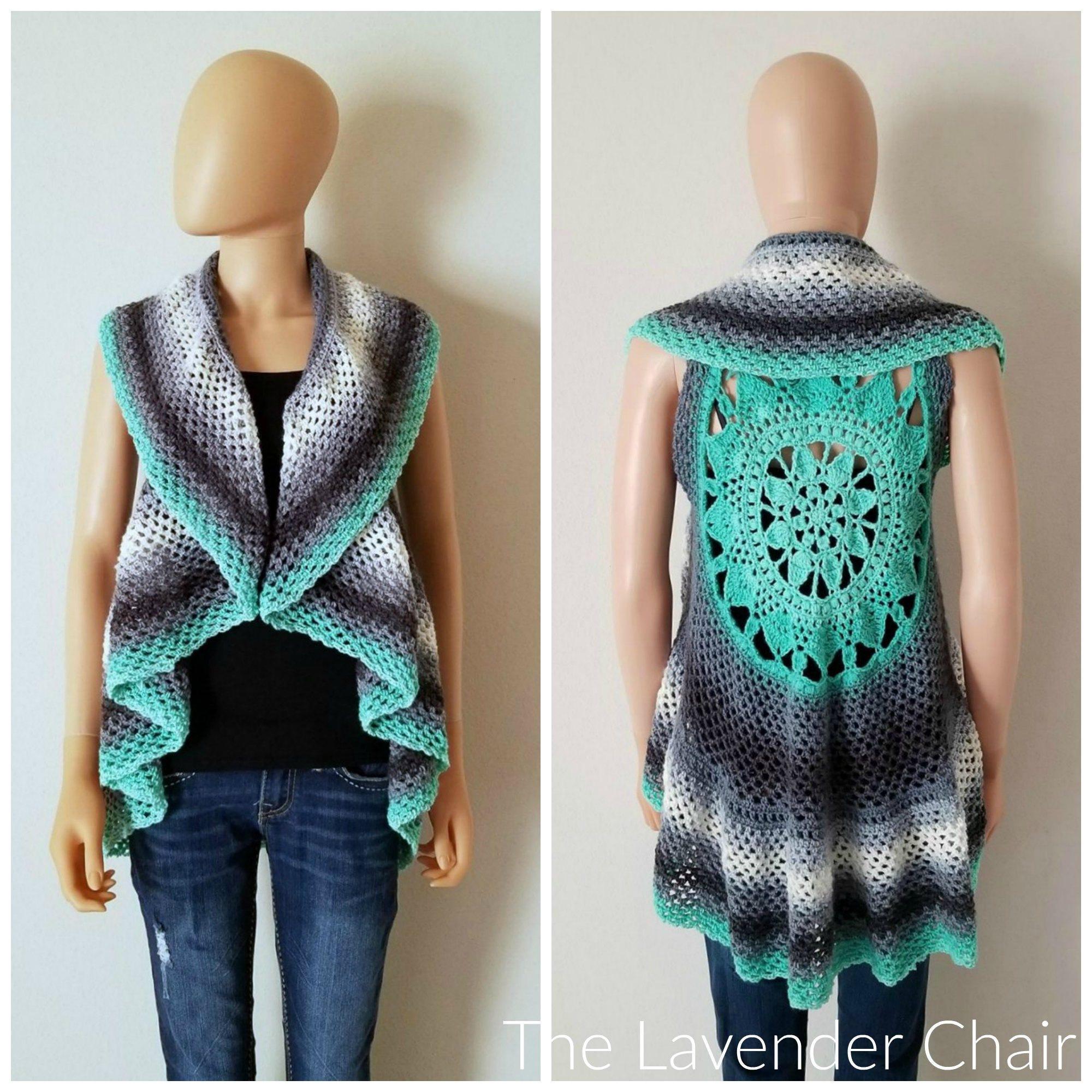Dreamcatcher Mandala Circular Vest Crochet Pattern Pdf File Etsy