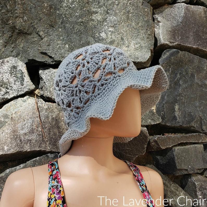 Falling Fans Sun Hat Crochet Pattern PDF FILE ONLY The image 0