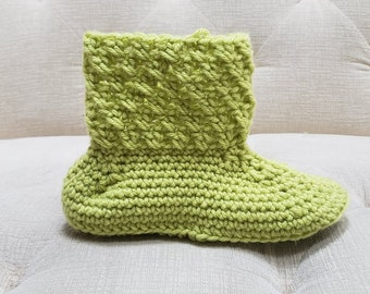 Crossed Double Slipper Crochet Pattern *PDF FILE ONLY* The Lavender Chair - Instant Download