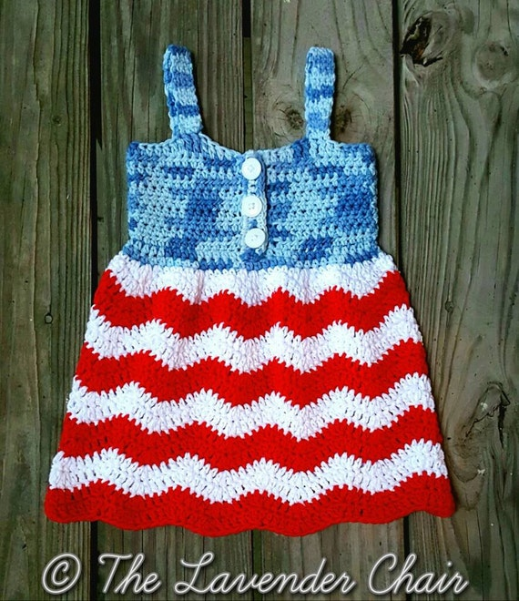 Red White And Blue Jean Dress Crochet Pattern Pdf File Only