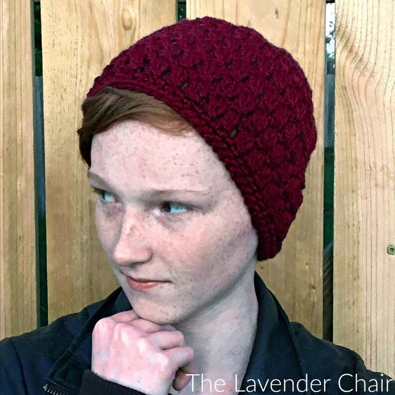Candace's Cluster Beanie Crochet Pattern PDF FILE ONLY image 0