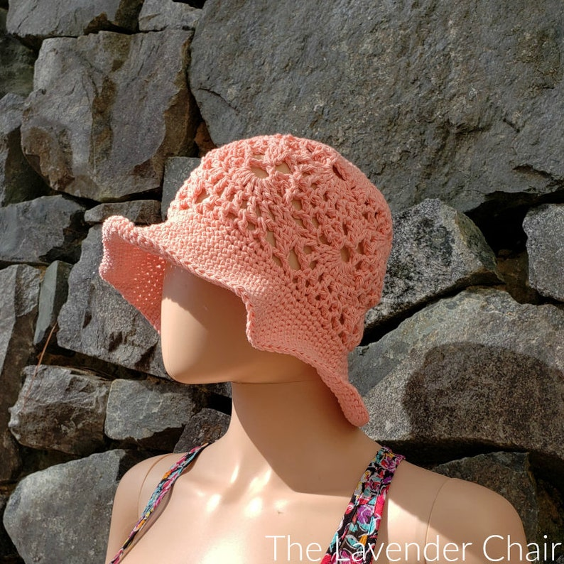 Lacy Shells Sun Hat Crochet Pattern PDF FILE ONLY The image 0