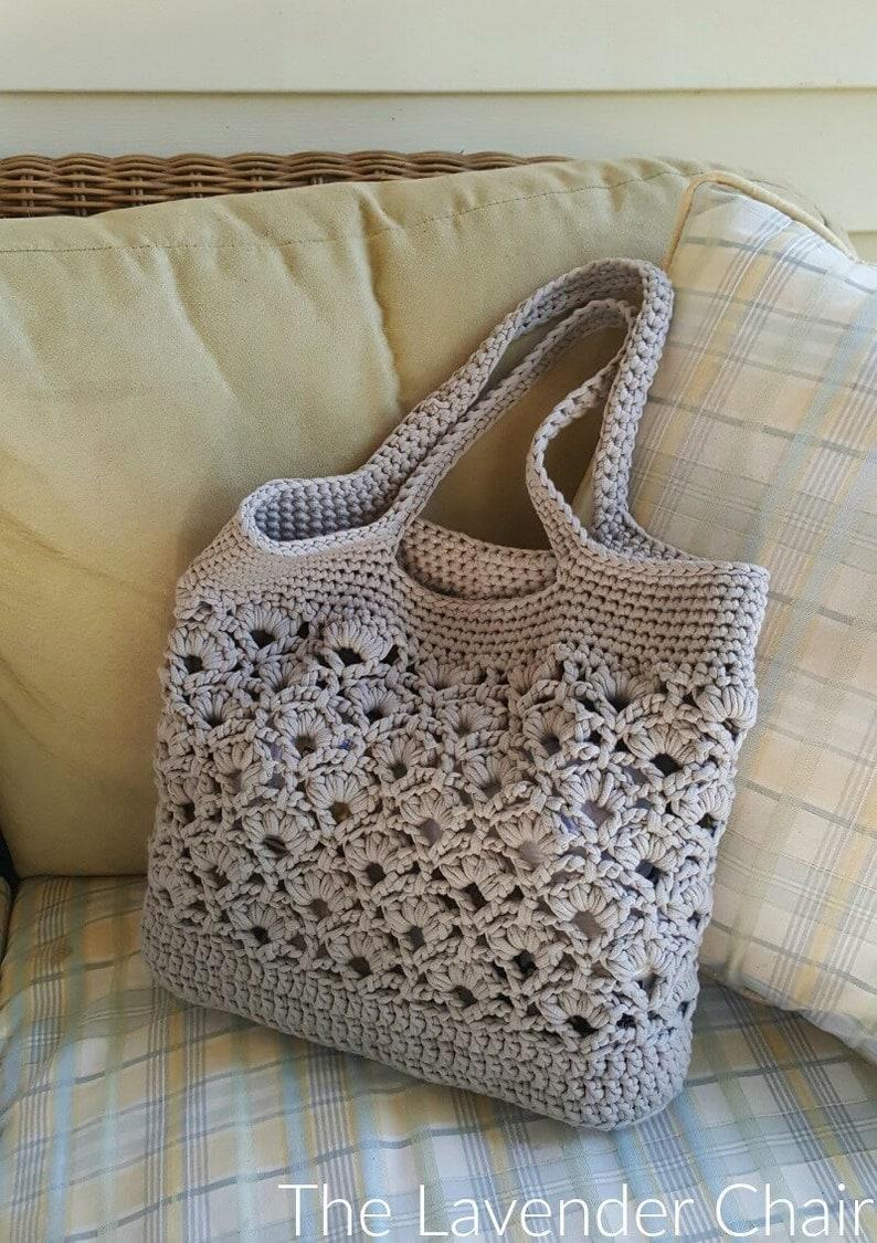 Daisy Fields Market Tote Crochet Pattern PDF FILE ONLY image 0