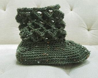 Sensu Fan Slipper Crochet Pattern *PDF FILE ONLY* The Lavender Chair - Instant Download