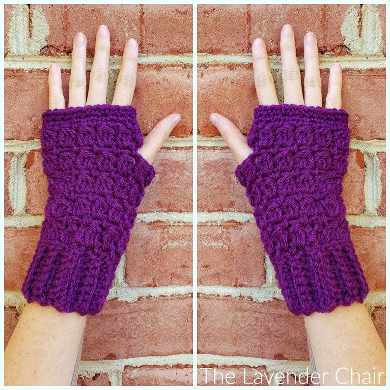 Candace's Cluster Fingerless Gloves Crochet Pattern PDF image 0