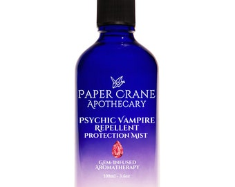 PSYCHIC VAMPIRE REPELLENT – Protection Mist - Gem-Infused Aromatherapy - Crystal Healing