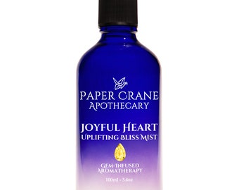 JOYFUL HEART – Bliss Mist- Gem-Infused Aromatherapy - Crystal Healing