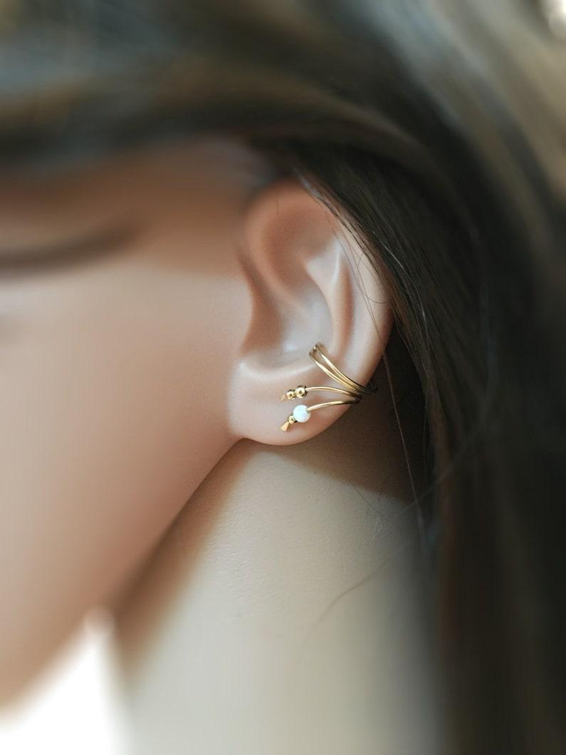 Ear Cuff Earring Gold Double Wrap Ear Cuff ear cuff gold image 0