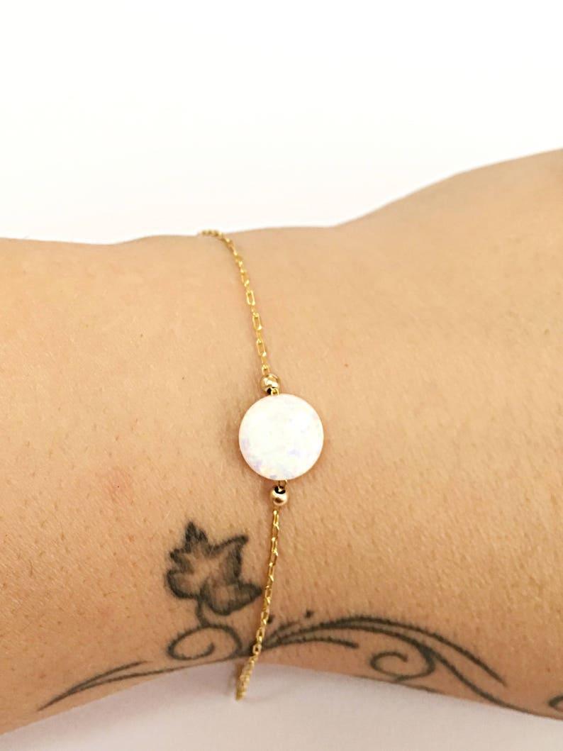 Opal Bracelet Gold Thin Bracelet Chain Dainty Bracelet For Women Simple Bracelet Women Minimalist Jewelry For Women Bracelet Gift For Her