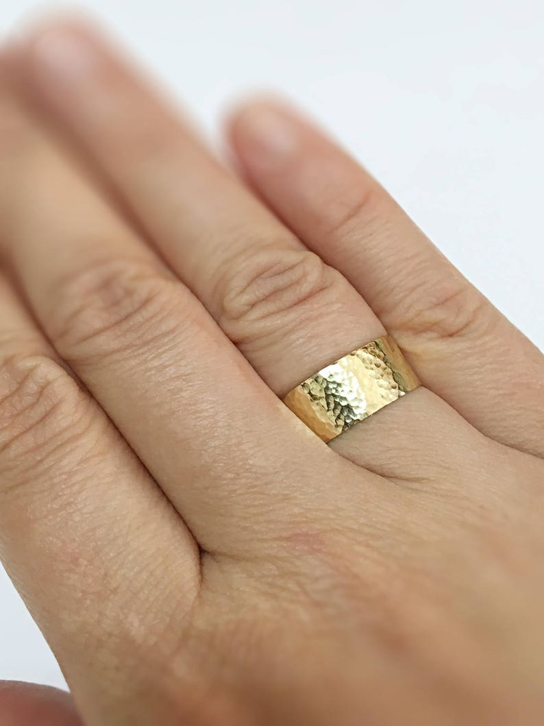 This is a photo of Wide Wedding Band Women Gold Wedding Band Women Gold Ring Band Wedding Ring Women, Hammered Ring Gold 32K Gold Ring Band Women 32K Gold Band