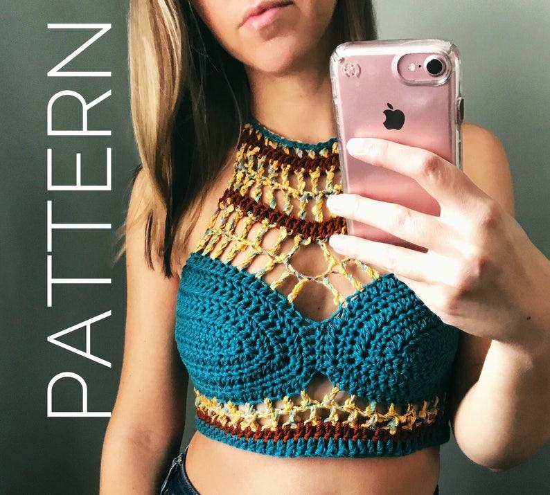 Crochet Bralette Pattern Crochet Top Pattern Bralette Top Etsy