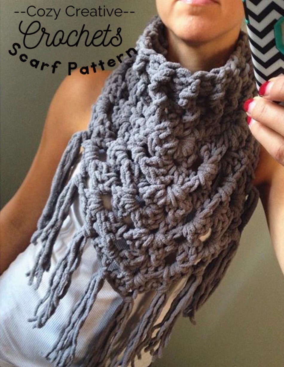 Crochet Pattern For Triangle Scarf Triangle Wrap Triangle Etsy