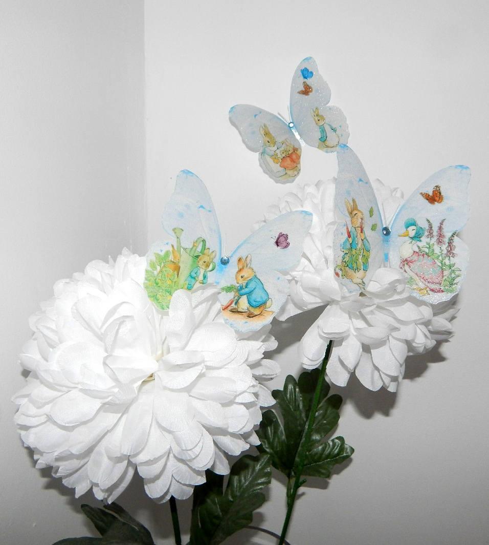 Beatrix Potter Peter Rabbit 3D Wall Sticker Butterflies ...
