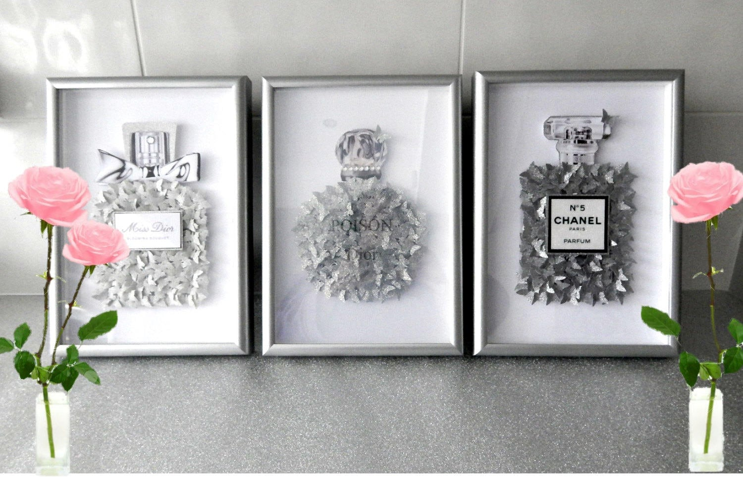 Glitter pictures,Chanel no 5, Miss Dior or Poison without frame ...