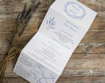 Tri Fold Wedding Invitations With Twine Etsy