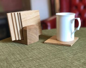 Oak Coaster Sets
