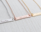 Name Necklace, Bar Necklace, Engraved bar necklace, personalised necklace, custom necklace