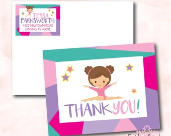 Tumble, Jump and Play Thank You Cards - Digital File OR Printed